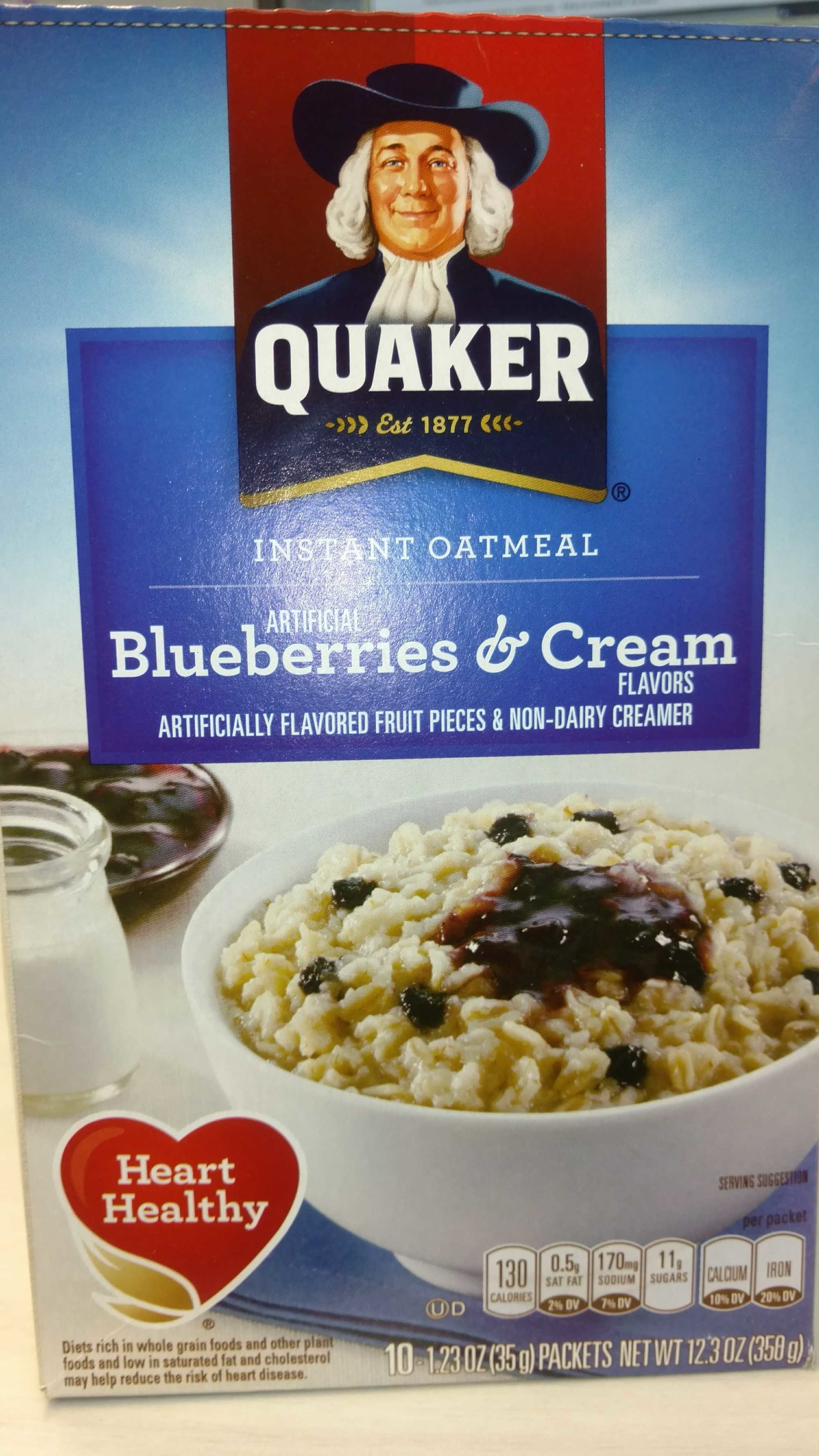 Instant oatmeal blueberries & cream - Product - en