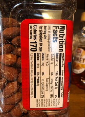 Sea salt roasted almonds - Nutrition facts - en