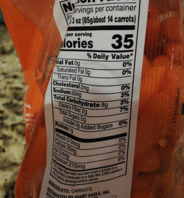 Baby-cut carrots - Nutrition facts - en