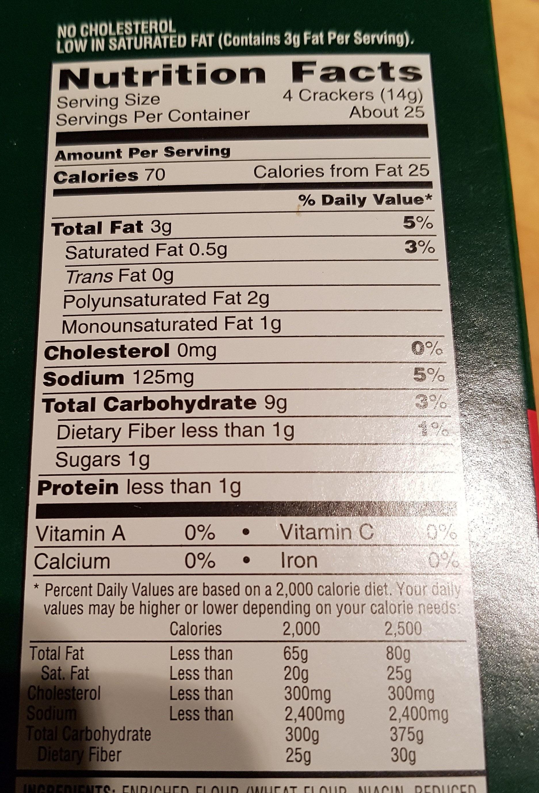 Snack stacks crackers - Informations nutritionnelles - fr