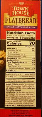 Town House Flatbread Crisps - Voedingswaarden - en