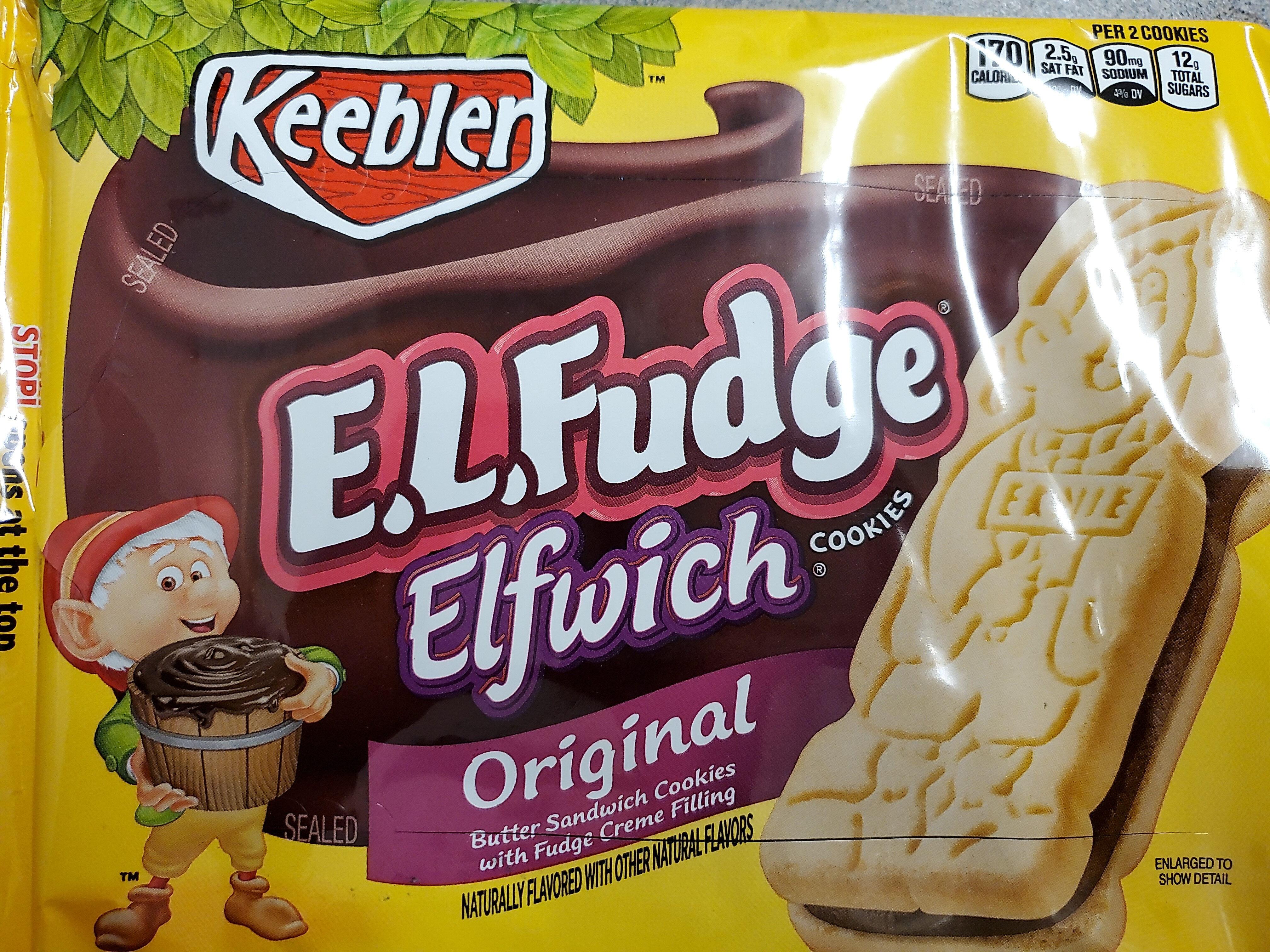 Keebler, e.l.fudge, elfwich butter sandwich cookies, original - Product - en