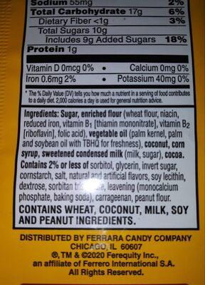 Coconut Dreams - Ingredients - en