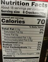 Town House pita crackers mediterranean herb - Nutrition facts - en