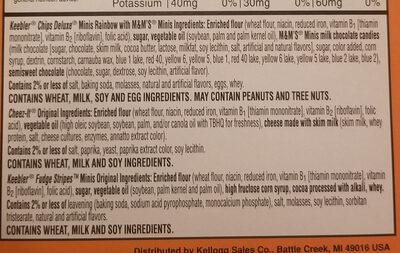 Sweet & Salty - Ingredients - en