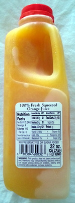 100% Fresh Squeezed Orange Juice - Product