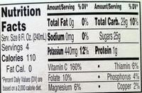 100% Fresh Squeezed Orange Juice - Voedigswaarden