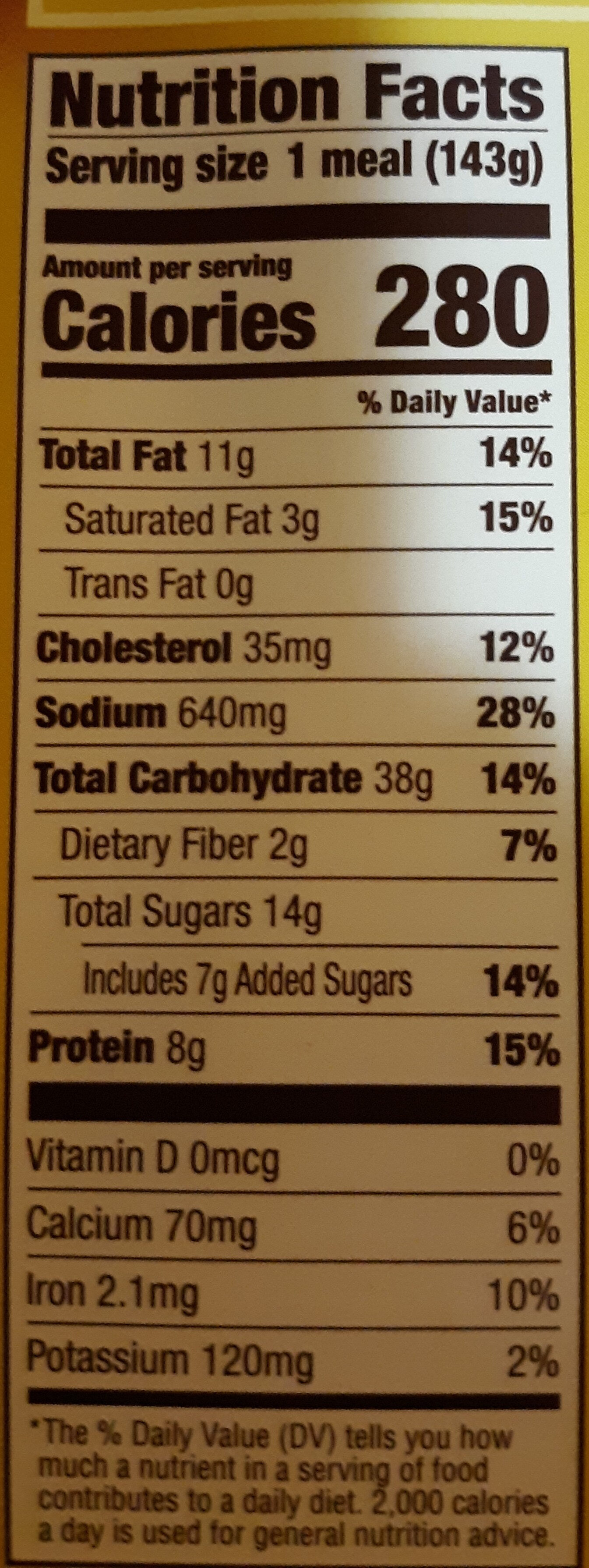 French toast breakfast - Nutrition facts - en