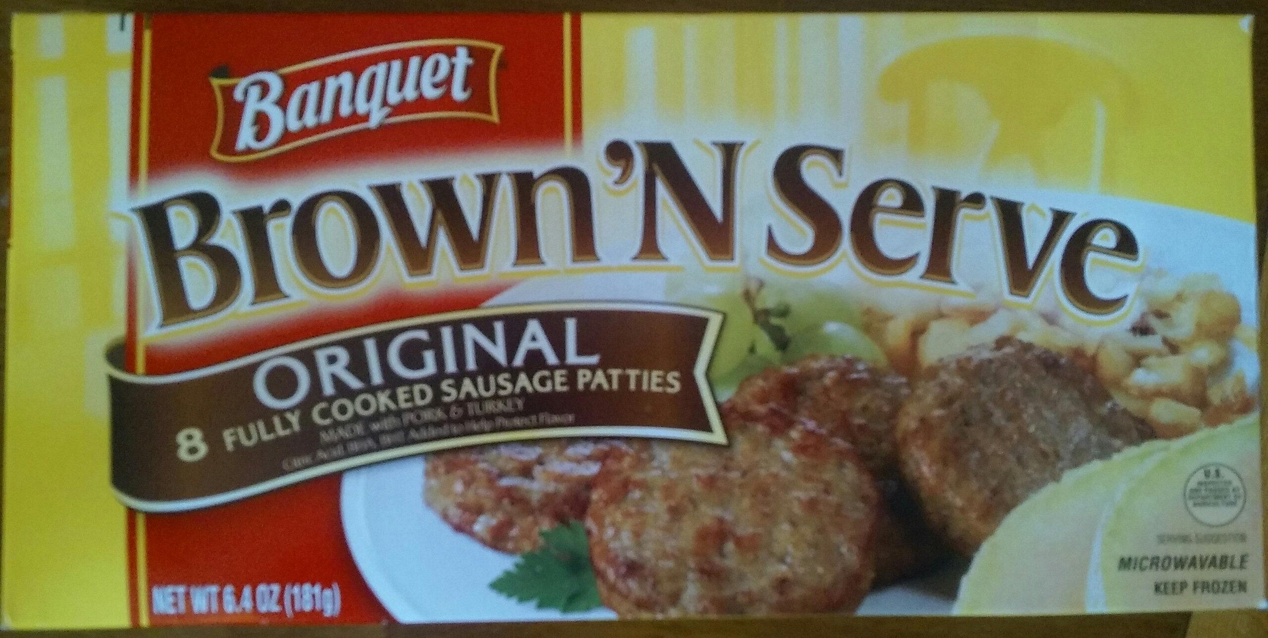 Brown 'N Serve original 8 fully cooked sausage patties - Product - en