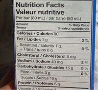 Greek Frozen Yogurt Bars - Nutrition facts - en