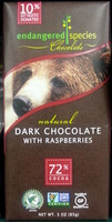 Natural dark chocolate with raspberries - Product