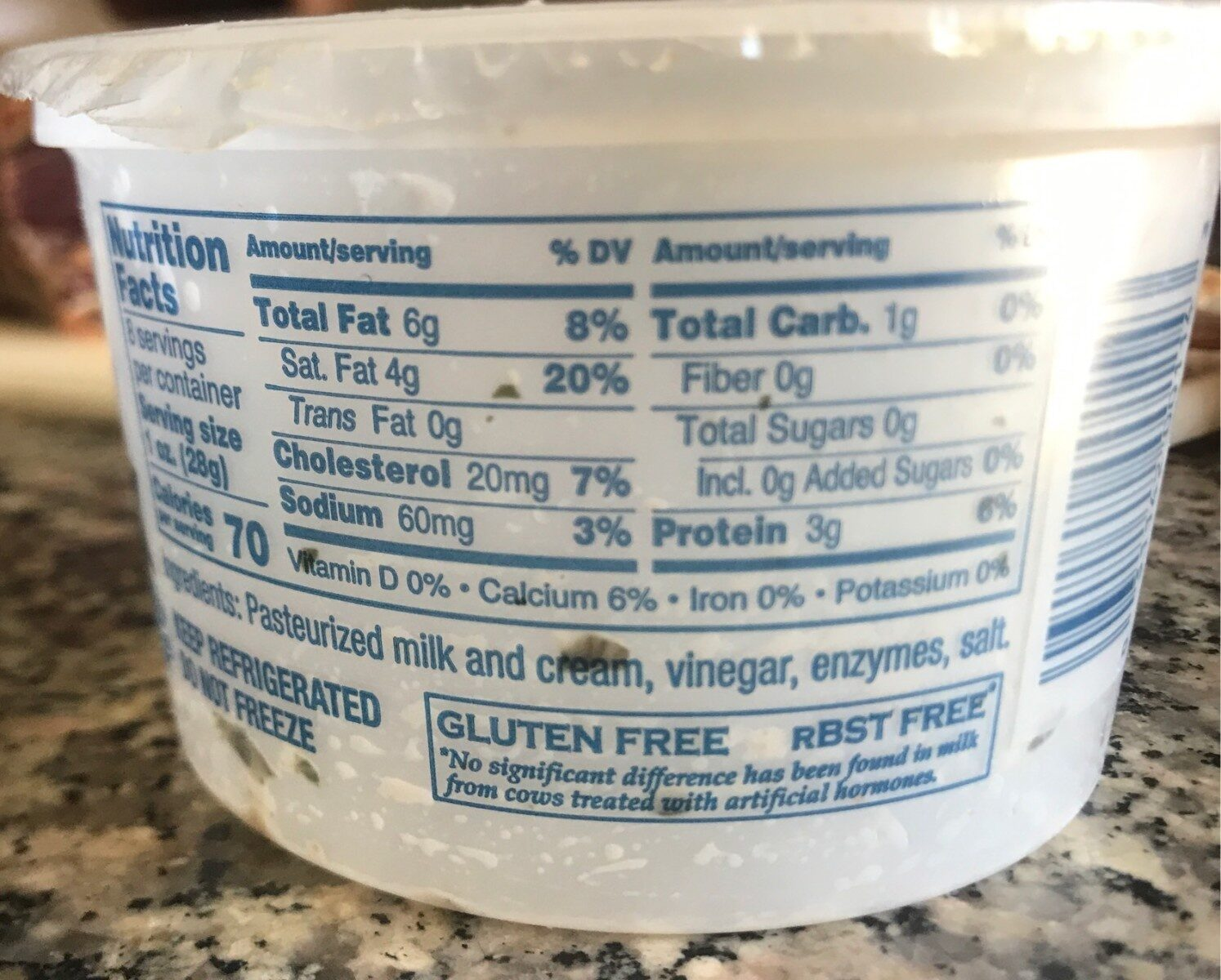 Burrata Cheese - Nutrition facts - en