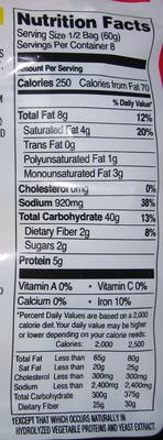Shin Ramyun - Nutrition facts - en