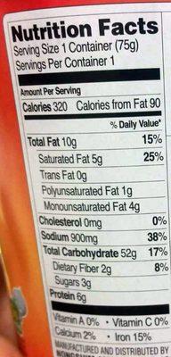 Kimchi Noodle Soup - Nutrition facts