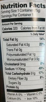 Premium noodle soup - Voedingswaarden - en