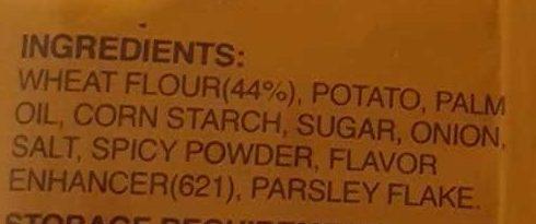 Potato Snack - Ingredients