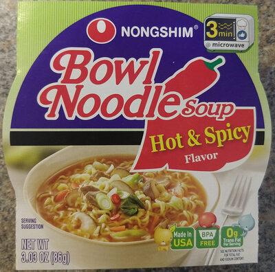 Bowl Noodle Soup, Hot & Spicy - Product - en