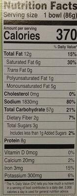 Bowl Noodle Soup, Hot & Spicy - Nutrition facts - en