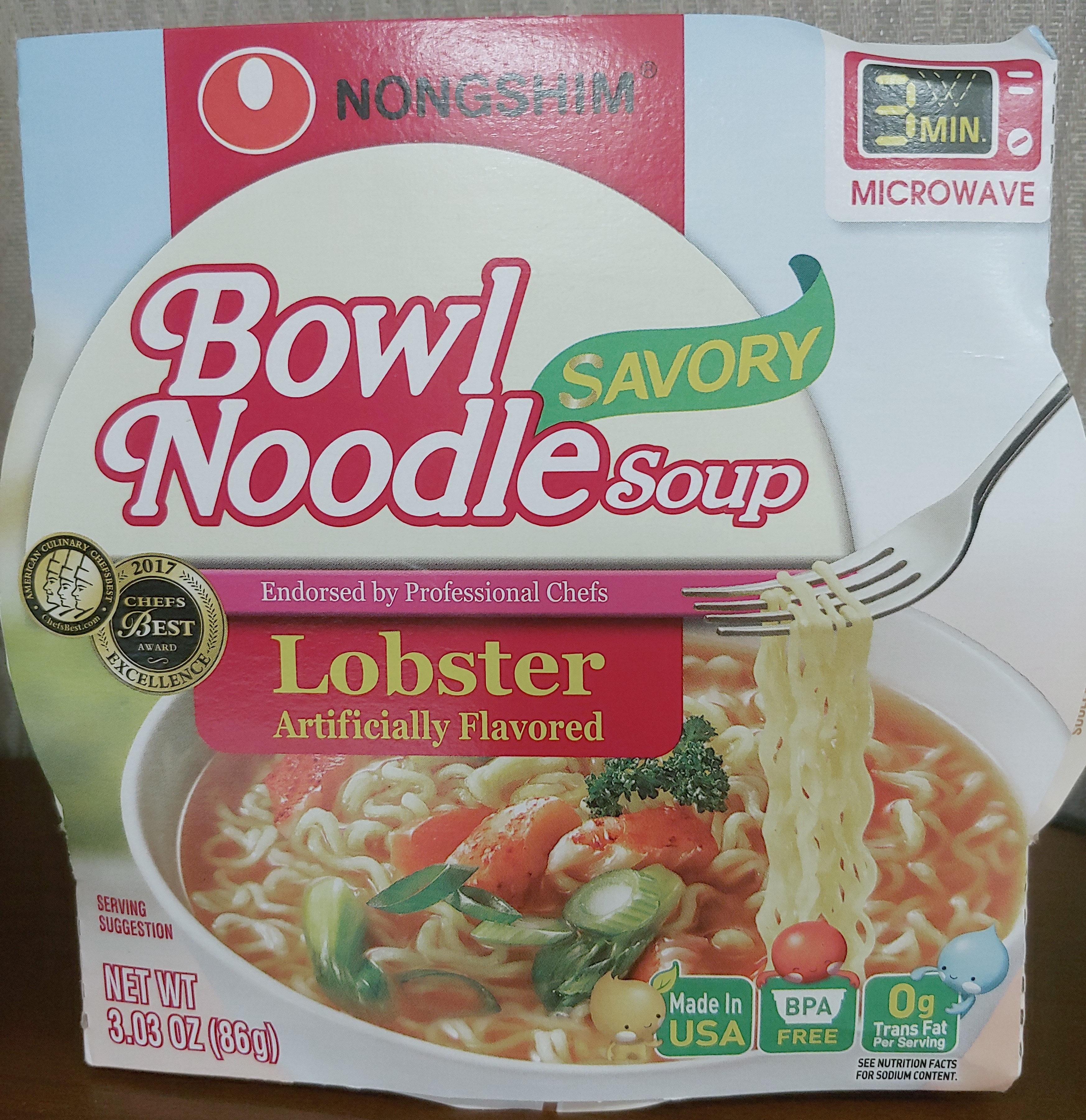 Savory bowl noodle soup, lobster - Product - en