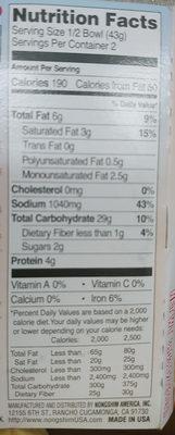 Bowl Noodle Soup, Lobster - Nutrition facts