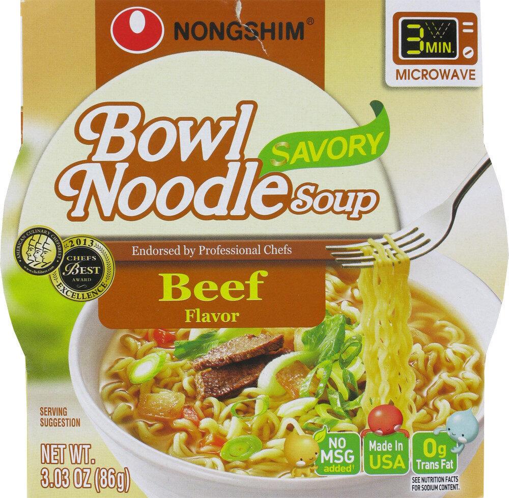 Beef flavor bowl noodle soup - Product - en