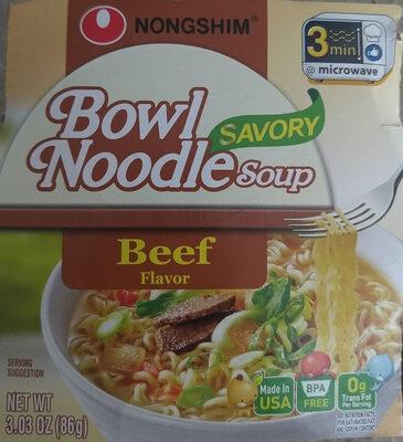 Bowl noodle soup, beef flavor - Product - en