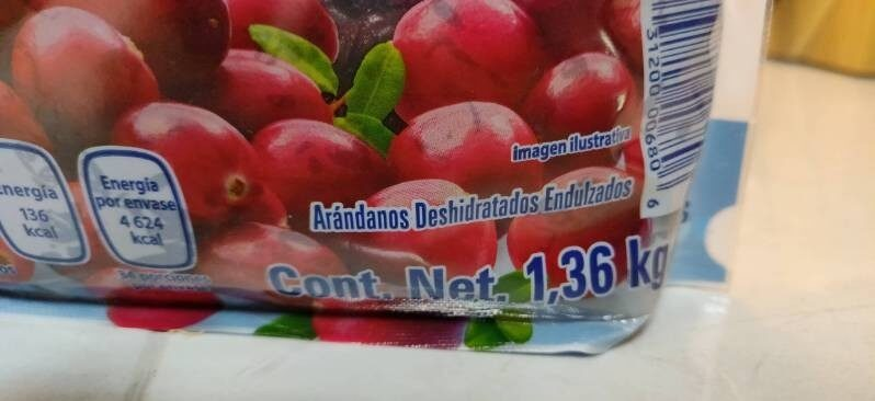 Arándanos deshidratados - Ingredientes - es