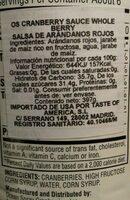 Moisturising Cream - Informations nutritionnelles - en