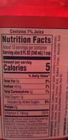 Diet cranberry juice - Nutrition facts