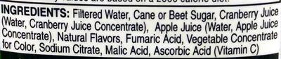 Cran-Apple - Ingrédients