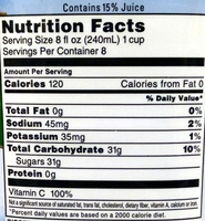 Cran-Apple - Nutrition facts