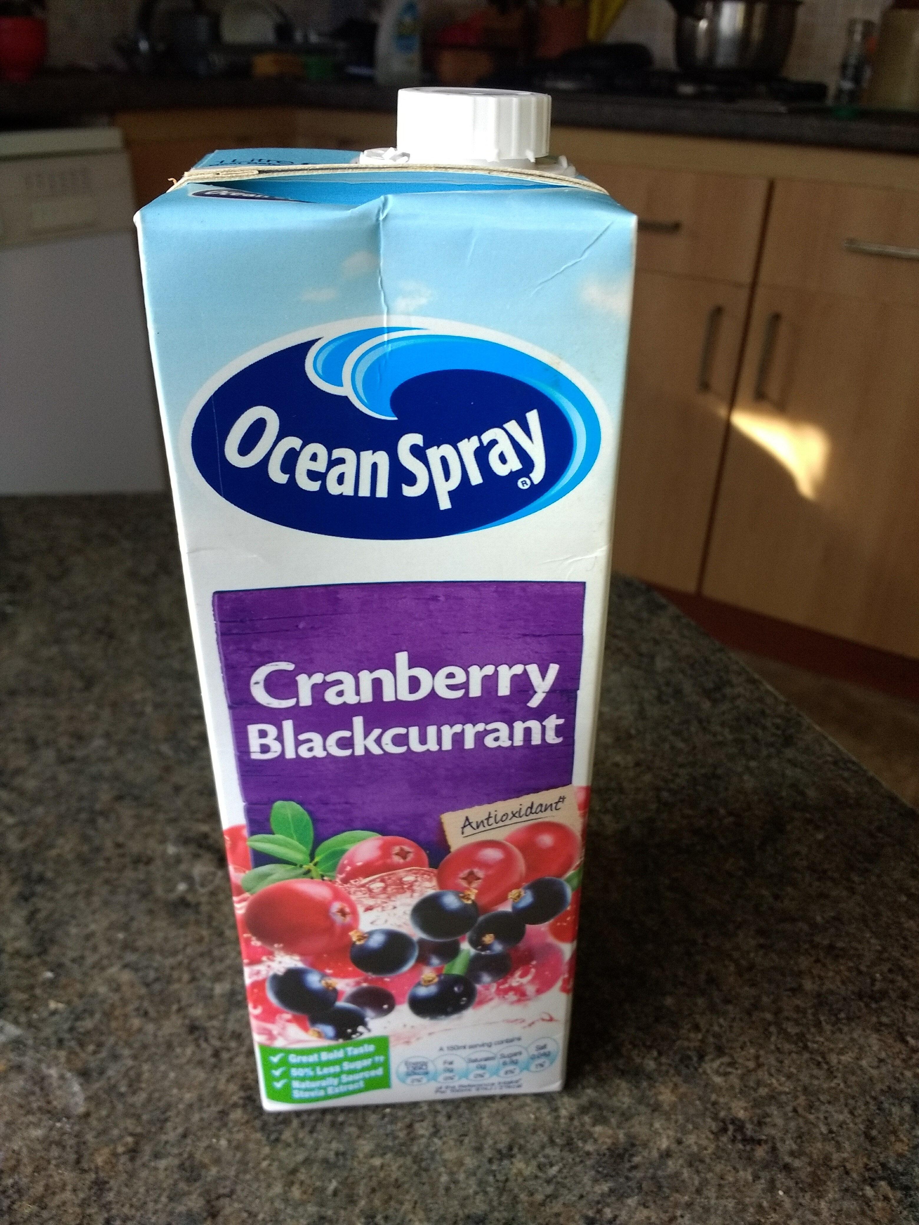 Ocean Spray cranberry blackcurrant - Product - en