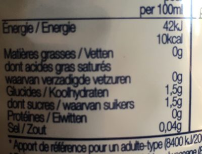 Cranberry Classic Light - Nutrition facts