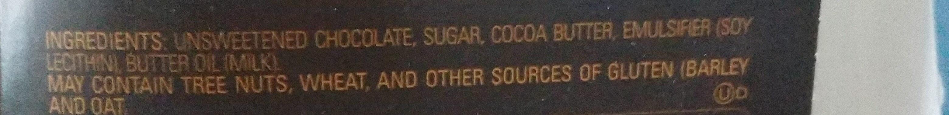 Dark Chocolate Bar - Ingredients - en