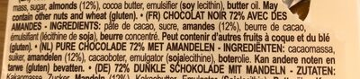 Chocolat noir amandes - Ingredients