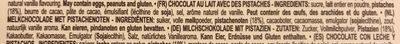 Milk chocolate with pistachios - Ingredients