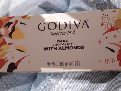 Barra De Chocolate Godiva Amargo Com Amêndoas - Product