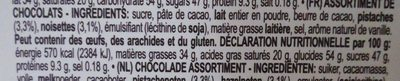 Godiva Napolitains Assorted Chocolate - Ingredients