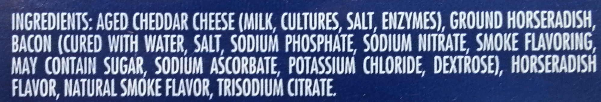 Bacon & Horseradish Cheddar Cheese - Ingredients