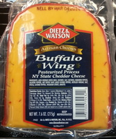 Dietz & watson, pasteurized process ny state cheddar cheese, buffalo wing - Product