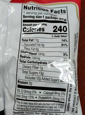 Premiuycookies - Nutrition facts - en