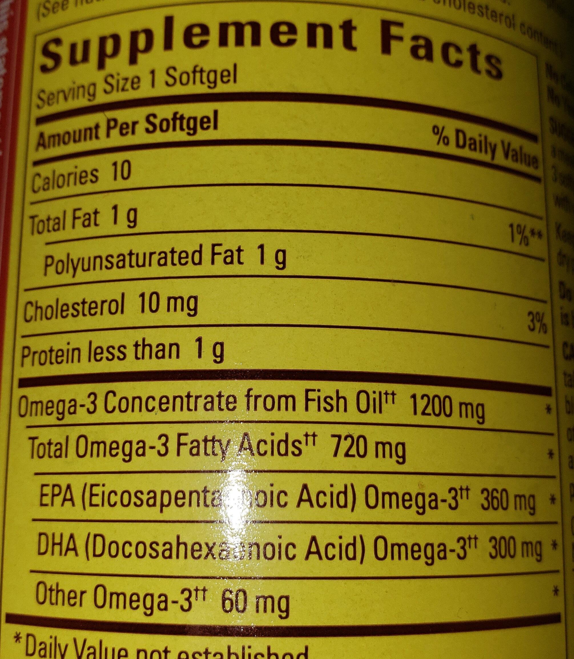 Omega-3 - Informations nutritionnelles - fr