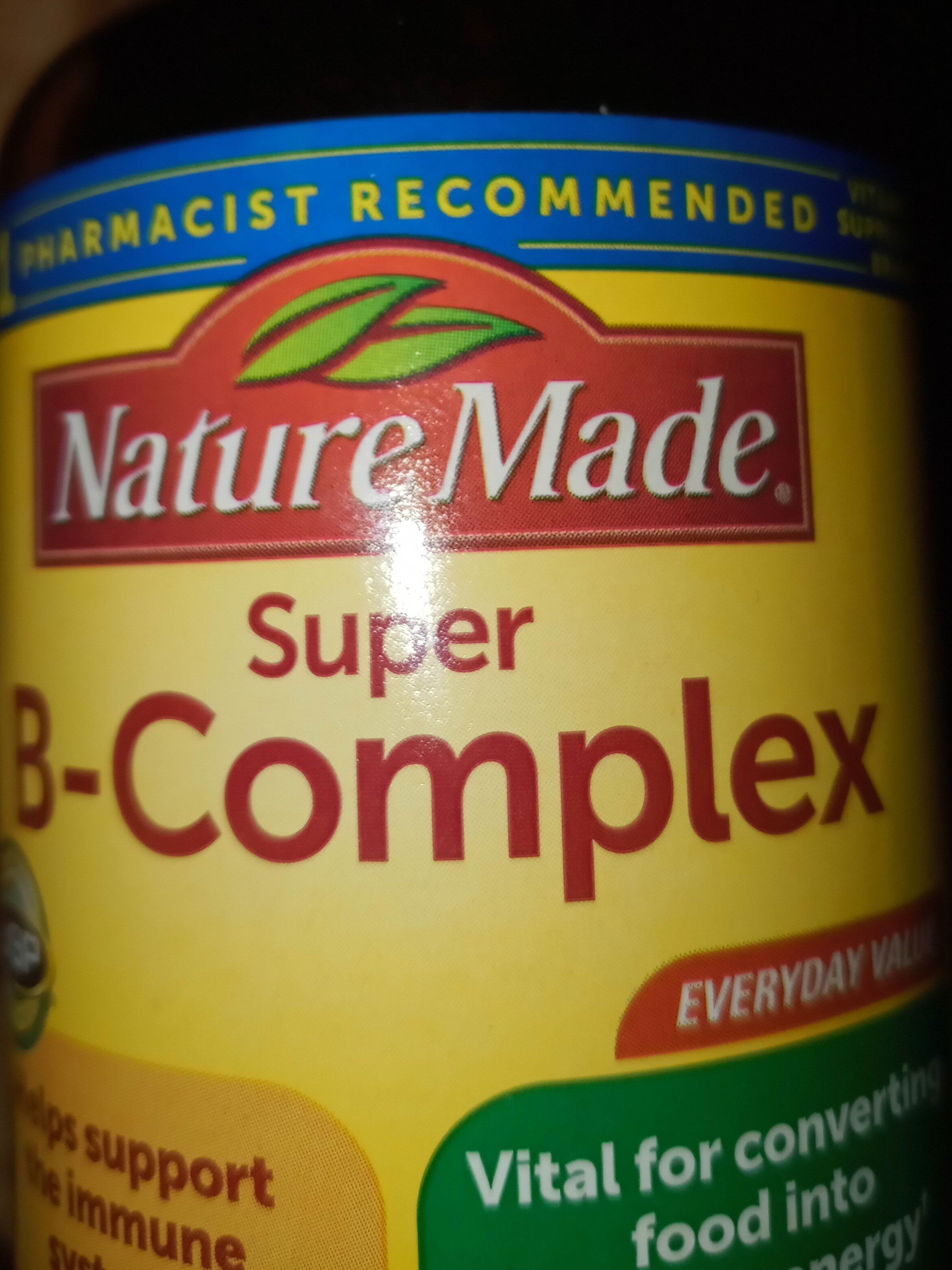 Nature Made Super B-Complex - 成分 - en