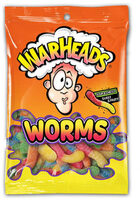 Sour & chewy sweet & fruity lemon, cherry, blue raspberry, orange, green apple, lemon worms chewy candy - Product - en