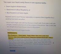 Warheads Super Sour Double Drops Assorted - Ingredients - en