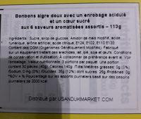 Sour Jelly Bean - Ingrédients