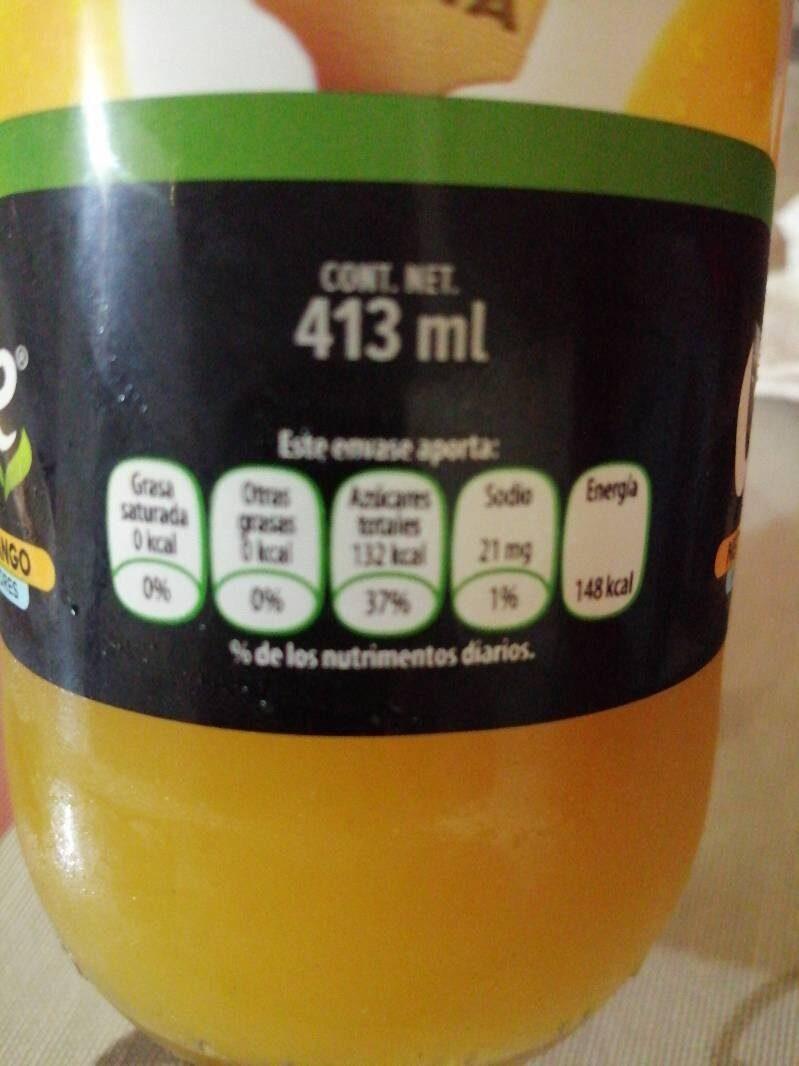 Néctar de mango - Informació nutricional