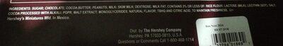 Hershey's Milk Chocolate - Ingrediënten - en
