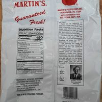 Potato Chips - Nutrition facts
