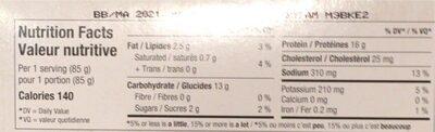 Champignons Blancs (chopine) - Nutrition facts - fr